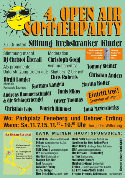 Open Air Sommerparty 2015